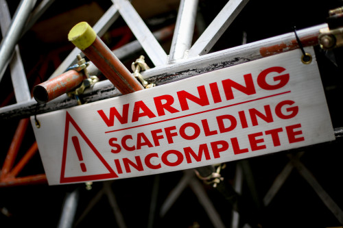 Warning Scaffold Incomplete